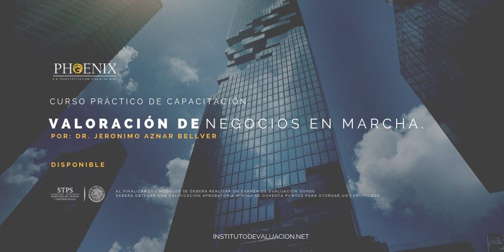 Course Image Valoración de negocios en Marcha Por: Dr. Jerónimo Anzar Bellver